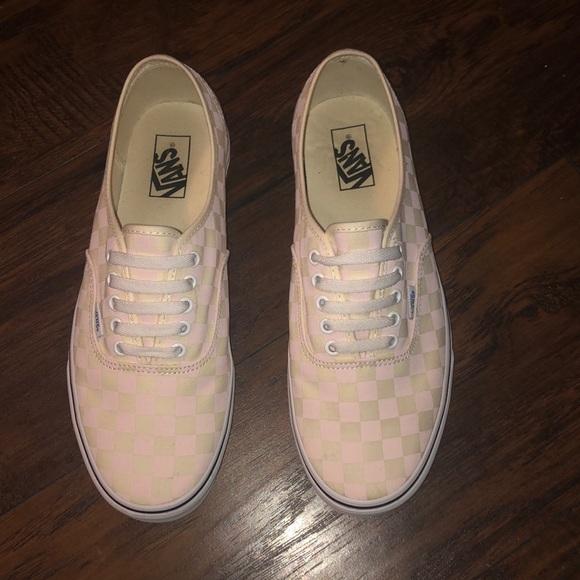 Vans Shoes   Mens Pink Checkered Vans